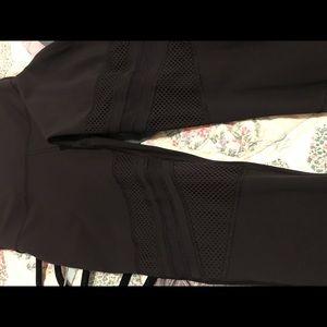 Lululemon legging with mesh/fishnet detail